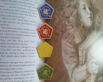 Hogwarts House Chocolate Frog Pins