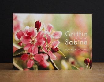 Bold Blossoms Printable Wedding Invite