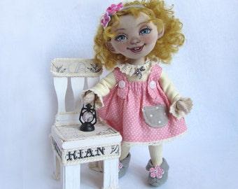 Textile doll elf Freya