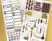 Gold Rose! Planner Layout Stickers
