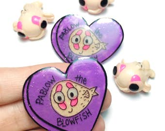 Pablow the Blowfish glow in the dark pin