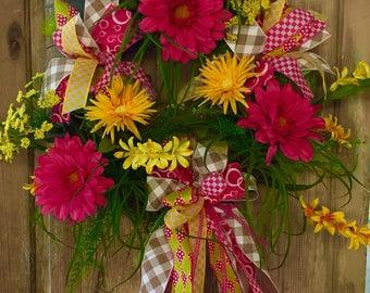 Spring Wreath, Summer Wreath, Front Door Wreath