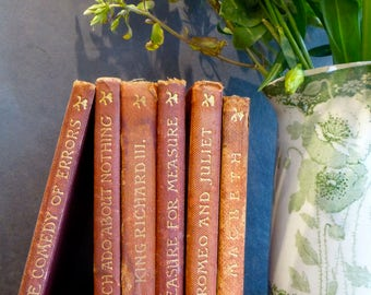 Set of 6 Shakespeare Books published by J M Dent & Sons Ltd - The Temple Shakespeare