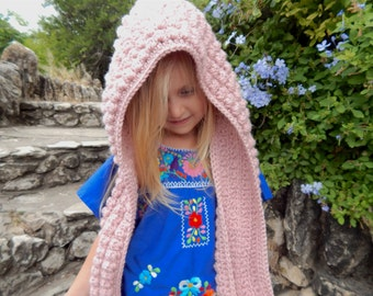 Bethany Hooded Scarf-Crochet Scarf with Hood