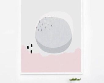 Pretty Scandinavian Modern Wall Art Print - Circle Modern Abstract Print - Circle Abstract Modern Art - Modern Wall Art - Minimalist Decor