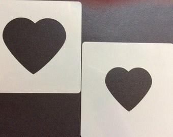 X2 Heart stencils