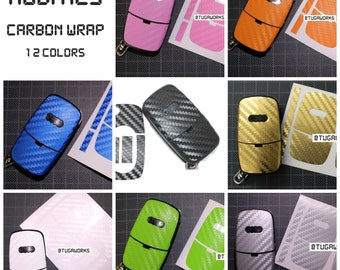 AUDI Flip Key Carbon Fiber Look Keyring Fob Decal Sticker Wrap Overlay A3 8L 8N S3 A4 S4 B5 B6 A1 A2 A6 C5 8E 8P TT S Line - All Colors