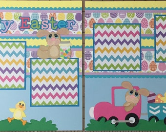 Babies First Easter premade Scrapbook pages