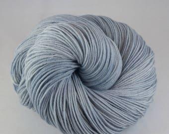 Hand Dyed Sock Yarn, hand dyed wool, variegated sock yarn, sock yarn, grey