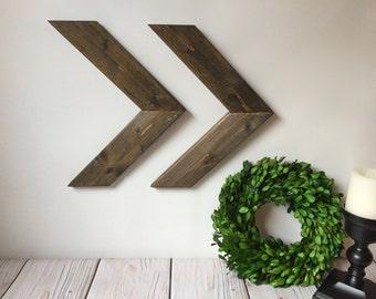 Rustic Wall Decor - Wooden Arrows - Rustic Home Decor - Chevron Arrow - Wood Arrows - Rustic Nursery Decor - Woodland Nursery - Arrow Sign