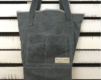 Waxed Canvas Tote Bag, Canvas Tote Bag, Wax Canvas Bag, Canvas Bag, Tote Bag, Handbag, Wax Canvas Tote, Tote Bag, Wax Canvas Bag, Bookbag
