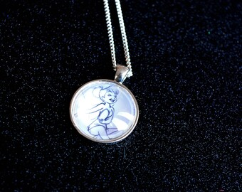 Tinkerbell Sketch - Peter Pan Disney Necklace