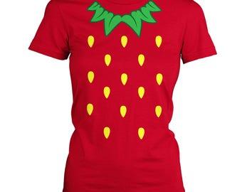 Strawberry Costume women's t-shirt