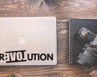 Revolution Sticker, Laptop Decal, Quote Decal, Vinyl Decal, Vinyl Sticker, Laptop Stickers, Macbook Decal, Car Decal, Inspirational Decal