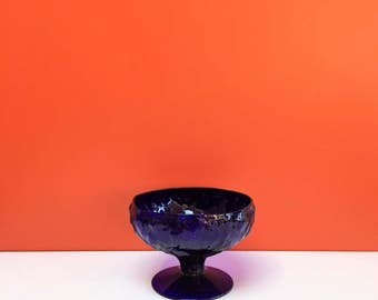 Cobalt Blue Textured Flower Candy Dish from MMA