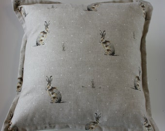 Hare Cushion cover,decorative Cushion,cushion cover ,Bunny cushion,scatter cushion, mothers day gift,housewarming gift,decorative pillow