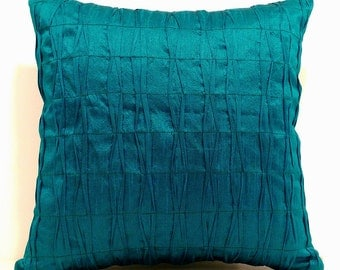 Teal Pillow,Teal Pillow Cover,Decorative Throw Pillows,Teal Modern Pillows,Teal Throw Pillow,Textured Pillow Covers