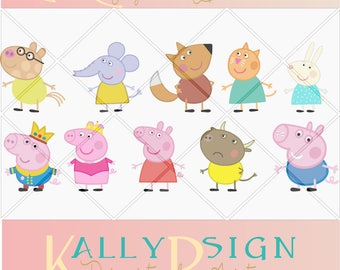 Peppa Pig SVG, Peppa Pig Party, Peppa Pig Invitation,  SVG files for cricut, silohuette, svg files, disney svg