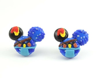 Avatar Neytiri Mickey Inspired Adorable Stud earrings. Polymer clay earrings, Avatar earrings- VVsGrotto