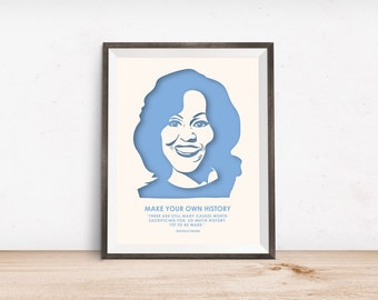 Michelle Obama Print - Girl Power - Nevertheless She Persisted - Feminist Gifts - Obama Print - Girl Boss - Feminism Quotes - Wedding Gift