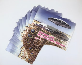 UFO Postcards, Roswell, New Mexico, Hanger 84, 22 Cards, UFO, Vintage First Class Postcards, Party Invitations, Can You Handle the Truth