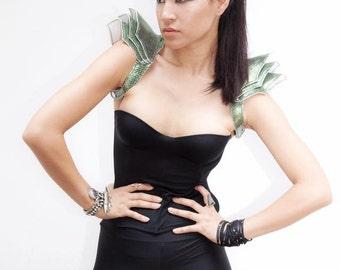 Green Snake Leather Shoulder Harness