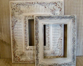 Ornate White Picture Frames, 4X6 Frame, 5X7 Frame, Wedding Frame, Nursery Frame, Up Cycled/Refurbished Frames, Cottage Chic Frames
