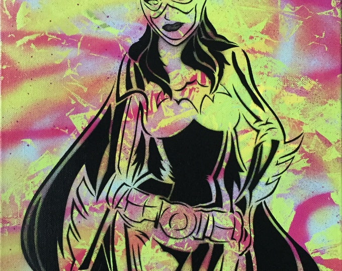 Featured listing image: Batigrl Neon Spray Painting