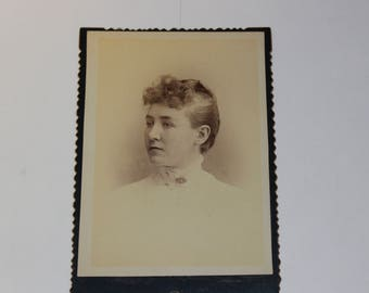 Cabinet Card - M H Porter Photography from Allegan, MI 1800's (P65)
