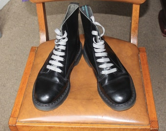 SALE Solovair Black Eight Eye Boots Size 6 | Dr Martens Boots | Skinhead Boots