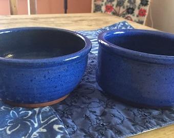 Stoneware Bowls, Blue Bowls , Blue Decor , Rustic Decor