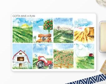 Planner Stickers Farm Sweet Farm Full Box for Erin Condren, Happy Planner, Filofax, Scrapbooking