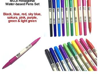 MUJI Dual-tip Hexagonal 10 Pens Set