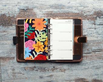 Night Flowers Dashboard, Planner Dashboard, Personal Planner Dashboard, Filofax Personal size, kikki K Medium