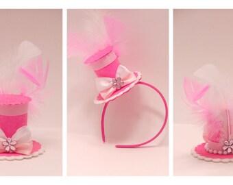 Glitter Mini Top Hat, Child's Birthday, Bridal Shower, Tea Party, Baby Shower