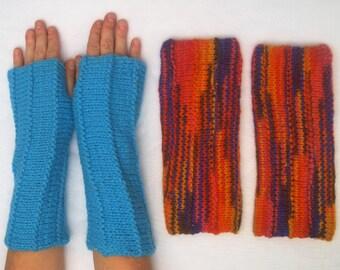 ArmWarmers with Thumbhole/ Fingerless Gloves/ Pulse Warmers/ Wrist Warmers/ HandWarmers -  100% pure raw sheep wool, handspun, handcolored