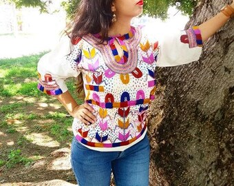 Handmade Blouse - Embroidery - Mexican
