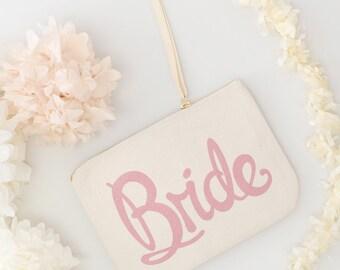 Wedding Makeup Pouch - Wedding Favour Pouch - Gift Pouch - Wedding Clutch - Bride Makeup Bag - Bride Wedding Canvas Pouch - Alphabet Bags