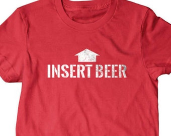 Insert beer t shirt, funny beer drinking shirt, Funny T Shirts for Men | T Shirts for Boyfriend & Husband | Lovely Gifts for Dad
