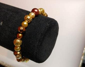 Golden Bronze Brown Bracelet