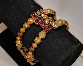 Amber Bronze Bracelet
