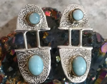 Larimar Abstract Earrings