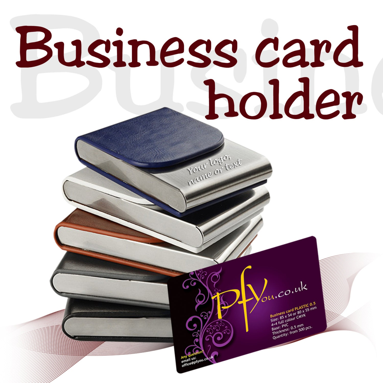 Personalised business card holder free laser engraved by for Laser etched business cards