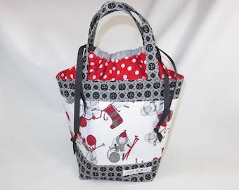 Medium Knitting Project Bag // Alyson Mini Tote // Knit One, Ewe Too!