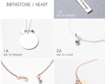 Add a heart tag / Birthstone  - TA1/DA