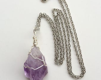 Handwrapped Amethyst Necklace