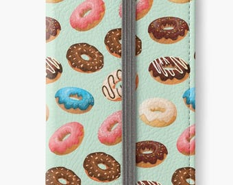 iPhone 6 Wallet, Donuts iPhone 6s Wallet, iPhone 6 Plus Wallet, iPhone 6s Plus Wallet, Donuts iPhone Wallet Case, Girlfriend Gift