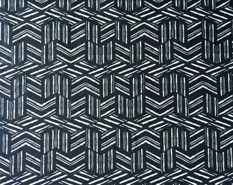 Geometric Cotton Linen Fabric with Cube Design, modern small scale pattern suitable for many craft or sewing projects, fashion & interiors