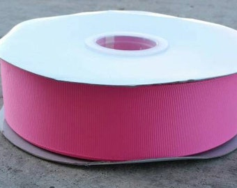 """1 1/2"""" Hot Pink - Grosgrain Ribbon - One and a Half Inch Wide"""