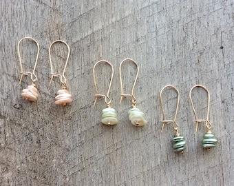 SALE Pearl Chip Dangle Earrings, Dangle Earrings, Pearl Earrings, Rustic Modern Jewelry, Pearl Jewelry, Free Shipping U.S.